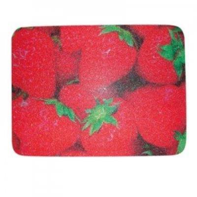 Msv 100031 fraises planche a découper et dessous de plat plastique multicolore 30 x 40 x 3 cm