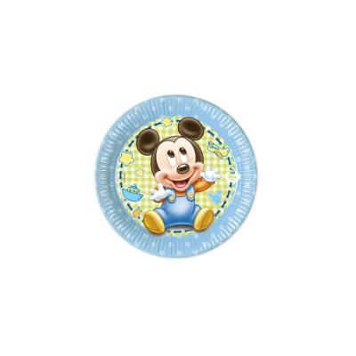 Petites assiettes Mickey bébé (x8)