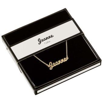 collier prenom jeanne