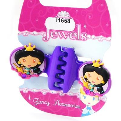 Paire de pinces 'Princess Jewels' violet