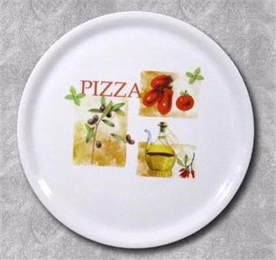 Porcelaine blanche decor italien*ass.pizza 31cm porcelaine