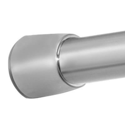 Interdesign constant tension® barre de rideau de douche, 63,5 cm - 109 cm, petit - forma, en acier inoxydable brossé