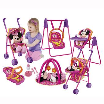 Minnie Mouse – Ensemble Poussette, Chaise-haute 3-en-1 et Tapis de