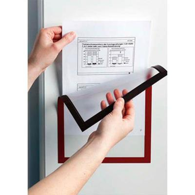 sachet de 5 cadres d'affichage Duraframe dos magnétique, format A4, rouge
