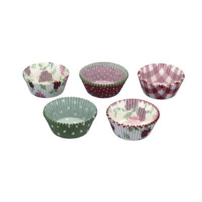 Kitchen craft lot de 250 caissettes à gateaux motif vichy, fleurs et pois