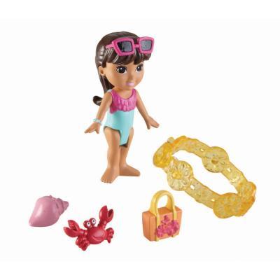 Figurine Dora and Friends : Dora Aventure à la plage et charms Fisher-Price