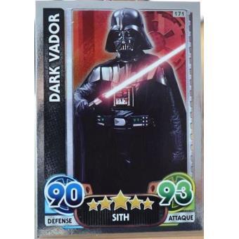 Carte Topps Star Wars 171 224 Dark Vador Brillante Jeu De Cartes Achat Prix Fnac