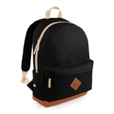 Sac à dos loisirs style rétro Heritage Backpack - BG825 - noir