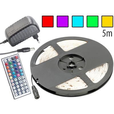 Bande à LED 230 V pour intérieur, 5 m, avec prise secteur - RVB