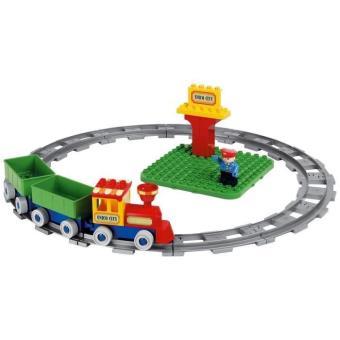 petit train brique construction eveil gare jeu jouet enfant bricks circuit bloc train. Black Bedroom Furniture Sets. Home Design Ideas