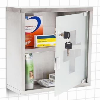 Armoire pharmacie murale salle de bain inox bross - Accessoires salle de bain design inox ...