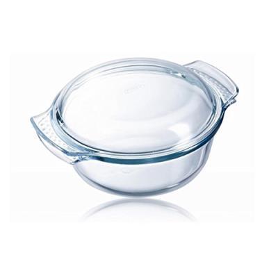 Pyrex 1040701 cocotte four ronde 1l verre haute qualité couvercle gamme classic
