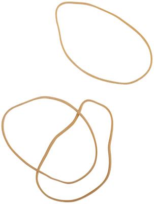 Bracelet Caoutchouc Blond 100 Mm - Sac De 1kg
