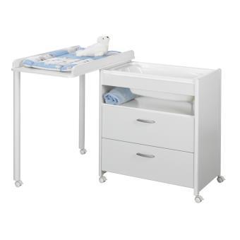 table a langer avec baignoire ella blanche geuther. Black Bedroom Furniture Sets. Home Design Ideas