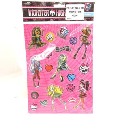Planche de 20 stickers 3D 'Monster High'