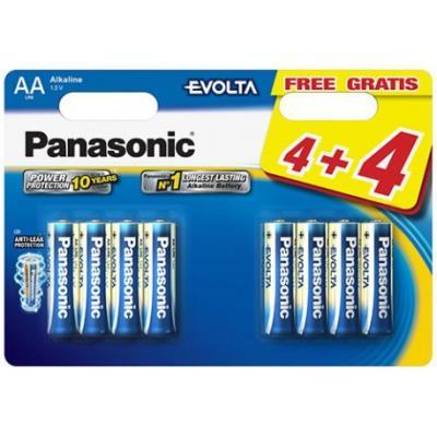 8 Piles Evolta LR06 4+4 gratuites