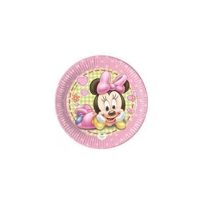 Petites assiettes Minnie bébé (x8)