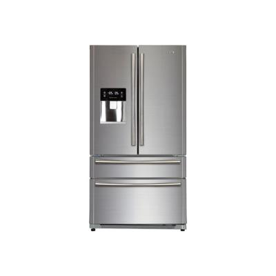 Haier HB22FWRSSAA - réfrigérateur/congélateur - style français - pose libre - inox