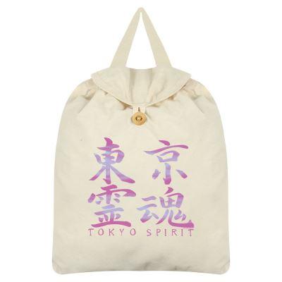 Tokyo Spirit Sac à dos Kanji 35 x 41 cm crème