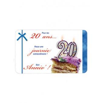 Carte Anniversaire 20 Ans Article De Fete Achat Prix Fnac