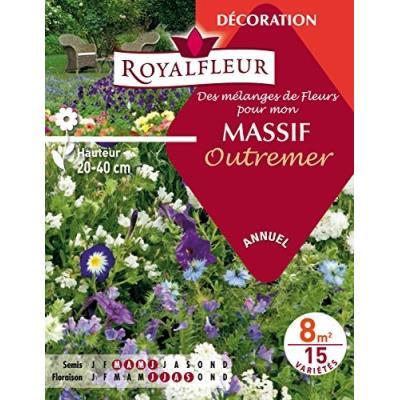 Royalfleur Pfre08711 Graines De Mélange De Fleurs Mon Massif Outremer 8 M²