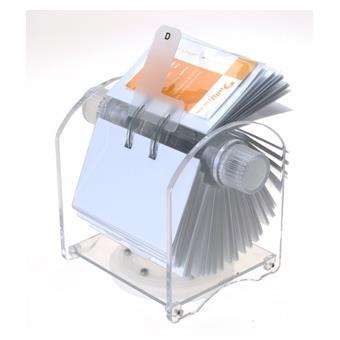 Genie Rotator Fichier Rotatif Pour 400 Cartes De Visites Avec 24 Parties Registre Et 200 Pochettes Transparentes 11004 Classeurs Traditions
