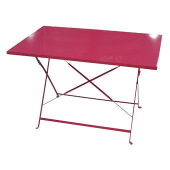 30€27 sur Table de jardin pliante Camargue - 110 x 70 cm - Rouge ...