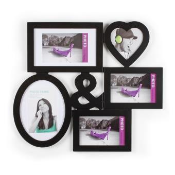 5u20ac Sur Pêle Mêle 5 Photos   Cadre Multi Photos   Noir   Accessoire Photo    Achat U0026 Prix | Fnac