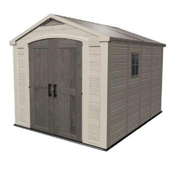 CHALET&JARDIN - Abri de jardin PVC aspect bois 8,5m2 - Mobilier de ...