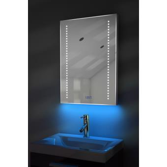 Miroir Toilette Horloge, Rétroéclairage, Bluetooth, Anti Buée, Capteur  K185Baud   Achat U0026 Prix | Fnac