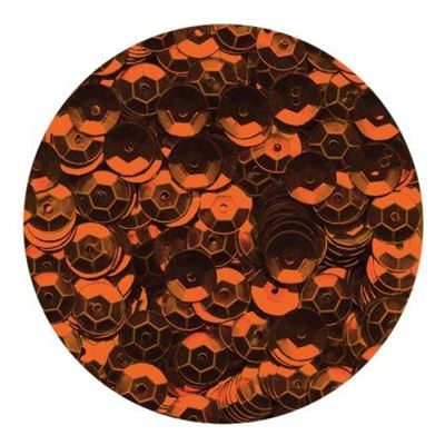 Sequins 6mm Orange x 500
