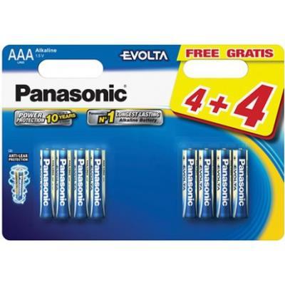 8 Piles Evolta LR03 4+4 gratuites