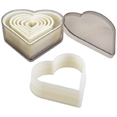 Ibili 784208 lot de 7 emporte-pièces coeur lisse