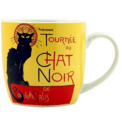 Tasse céramique Tournée du chat noir