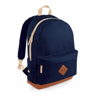 Sac à dos loisirs style rétro Heritage Backpack - BG825 - bleu marine