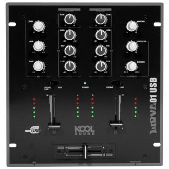 Table de mixage 2 voies 6 entr es avec port usb kool sound - Table de mixage en ligne gratuit ...