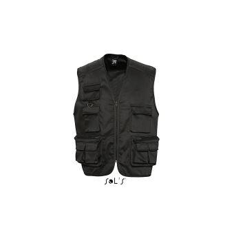 quantité limitée couleur n brillante pas cher à vendre SOL'S - gilet photographe reporter multipoches - veste légère sans manches  BODYWARMER - 43630 - mixte homme femme