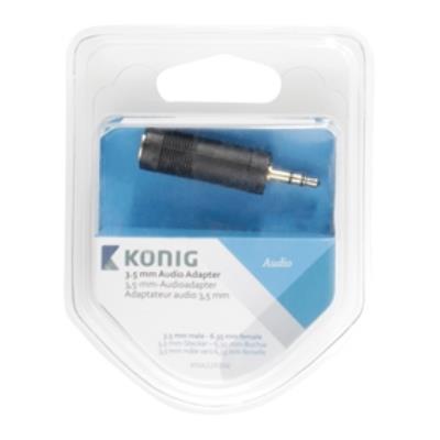 Adaptateur audio 3,5mm, 3,5mm mâle vers 6,35 mm femelle, 1 pce, gris könig