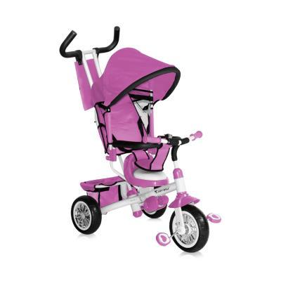 La construction du tricycle B302A est stable et sécurisée. Le tricycle est confortable et dispose d'un bord de sécurité et il est adapté même aux petits enfants. Il a un grand auvent et poignée pratique pour le parent. La canopée a plusieurs positions. Le