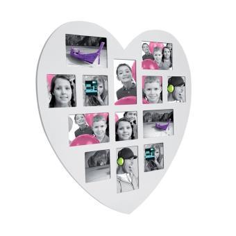 11 sur ple mle 13 photos cadre multi photos en forme de coeur blanc accessoire photo achat prix fnac - Pele Mele Photo Coeur