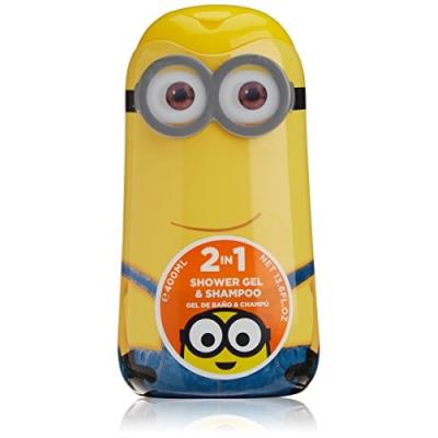 Minions - gel douche & shampooing - minions - 400ml air-val 6285