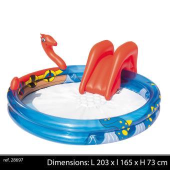 aire de jeux piscine jet eau toboggan gonflable enfant. Black Bedroom Furniture Sets. Home Design Ideas