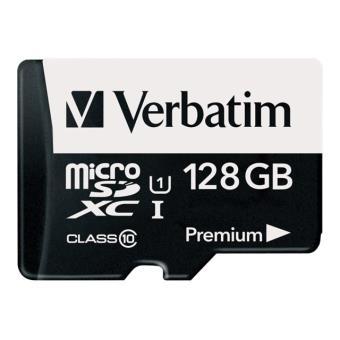 carte mémoire micro sd 128 go Verbatim Premium   carte mémoire flash   128 Go   microSDXC UHS I