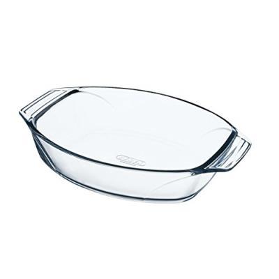 Pyrex 8010666 optimum plat à four ovale en verre ultra résistant prise en main facile 40x28 cm
