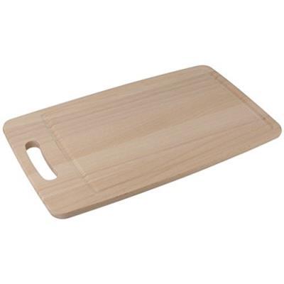 Fackelmann 31621 planche à découper bois de hêtre beige 38 x 22,5 x 1,2 cm