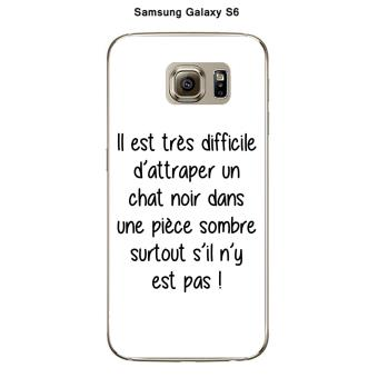 coque samsung galaxy s6 chat noir