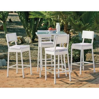 Ensemble Table et chaises Set milano 75/4+4c anais blanc Aluminium ...