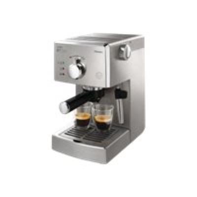 Saeco Poemia HD8327 machine à café avec buse vapeur Cappuccino 15 bar inox