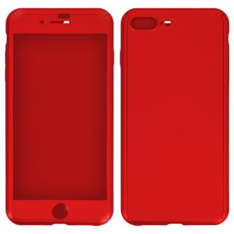 coque protection int grale 360 film verre tremp apple iphone 7 plus wave concept rouge. Black Bedroom Furniture Sets. Home Design Ideas