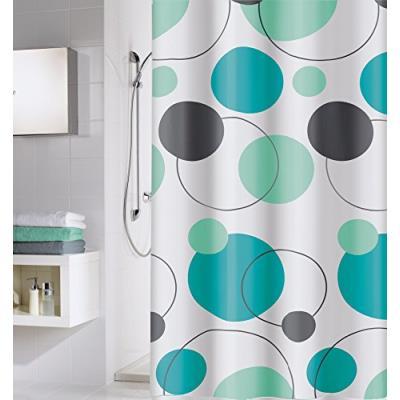 Cycle rideau de douche peva étanche design 180 x 200 cm turquoise